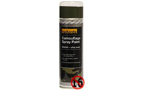 image of Halfords Camouflage Spray Paint Green 300ml