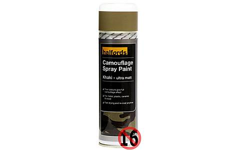 image of Halfords Camouflage Spray Paint Khaki 300ml