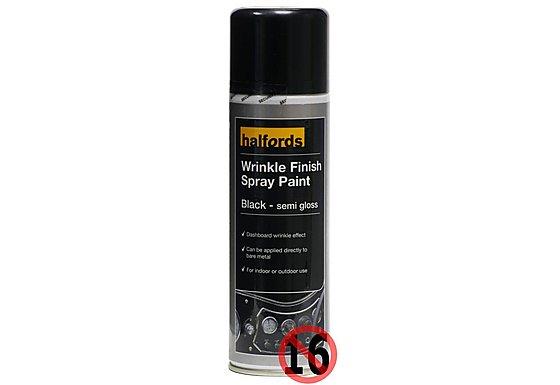 Halfords Wrinkle Finish Spray Paint 300ml