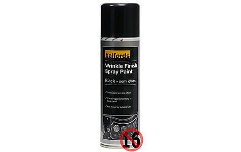 image of Halfords Wrinkle Finish Spray Paint 300ml