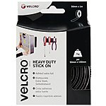 image of VELCRO Brand Heavy Duty Stick on Tape (Black)