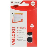 VELCRO#174; Brand Stick on Coins 16mm - Black