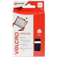 VELCRO Stick on Squares 25mm - Black