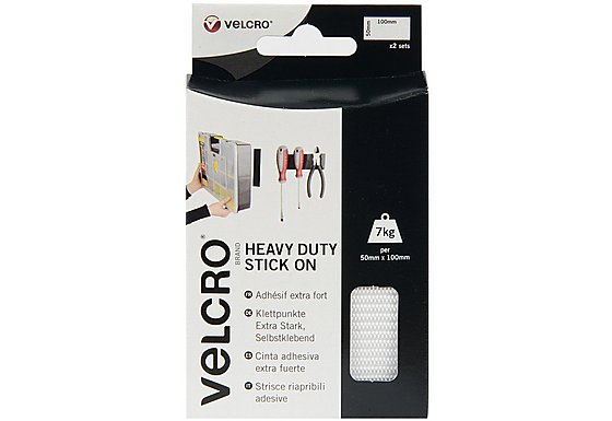 VELCRO#174; Brand Heavy Duty Strips White