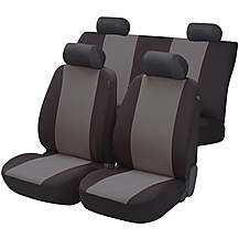 Image Of Essentials Seat Covers Full Set Black Grey