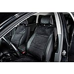 image of Halfords Universal Leather Look Seat Covers Full Set