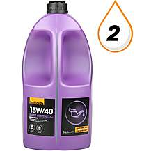 image of Halfords 15W40 Part Synthetic Oil 5L