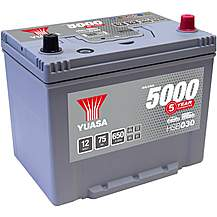 image of Yuasa Silver Car Battery HSB030  - 5 Year Guarantee