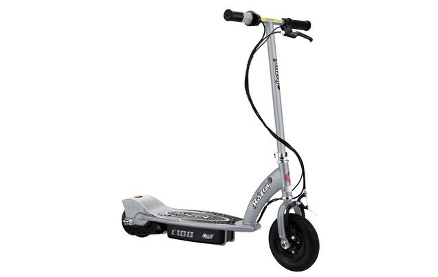 electric scooters electric scooters for kids halfords image of razor e100 electric scooter silver