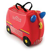 image of Trunki Freddie the Fire Engine Ride on Suitcase