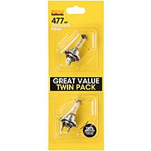 image of Halfords 477 H7 Car Bulbs x 2