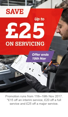 Up to £25 off servicing
