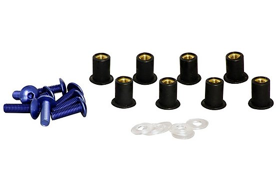 GTmoto Aluminium Screen Screws 'Blue'