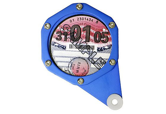 GTmoto Aluminium Tax Disc Holder - Blue