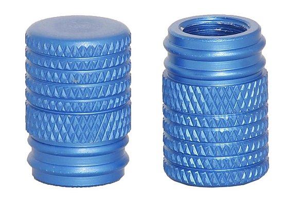 GTmoto Aluminium Valve Caps 'Blue'