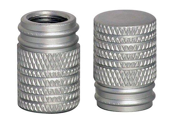 GTmoto Aluminium Valve Caps - Silver