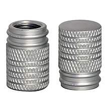 image of GTmoto Aluminium Valve Caps - Silver