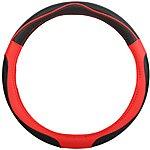 image of Halfords Black/Red Steering Wheel Cover
