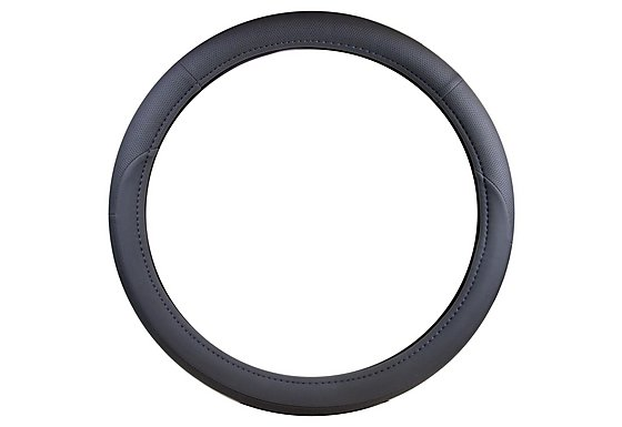 Halfords Grey Rally Steering Wheel Cover