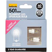 image of Halfords 501 Filament LED Upgrade Bulbs x 2