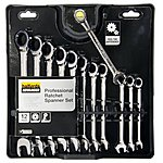 image of Halfords Advanced 12 Piece Ratchet Spanner Set