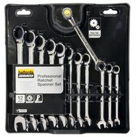 Halfords Advanced Professional 12 Piece Ratchet Spanner Set