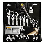 image of Halfords Advanced 9 Piece  Ratchet Spanner Set