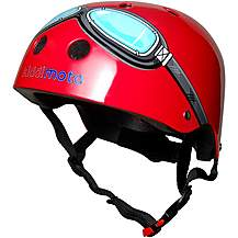image of Kiddimoto Kids Helmet Red Goggle Small