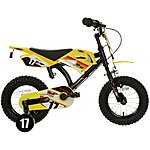 image of Motobike Yellow Kids Bike 12""