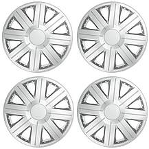 "image of Halfords Essentials 15"" Wheel Trim - Set of 4"