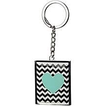 image of Chevron Key Ring With Heart Emblem