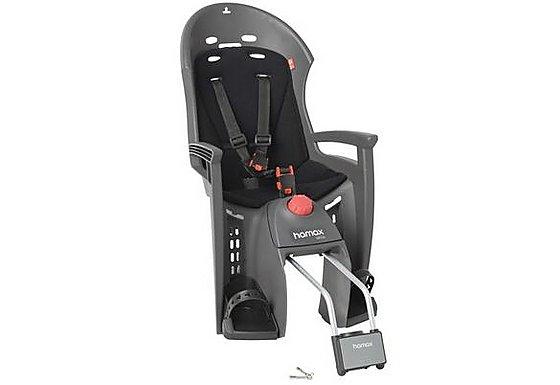 Hamax Siesta Rear Child Bike Seat - Grey/Light Grey with lockable bracket