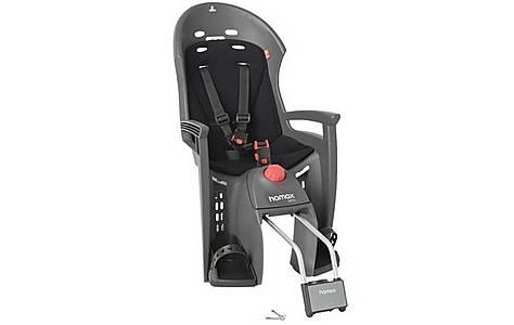 image of Hamax Siesta Rear Child Bike Seat - Grey/Light Grey with lockable bracket