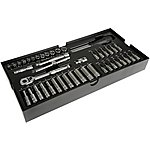image of Halfords Advanced Modular Tray Set - 44 Piece Socket Set 1/4""