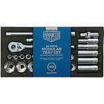 image of Halfords Advanced Modular Tray Set - 26 Piece Socket Set 1/2""