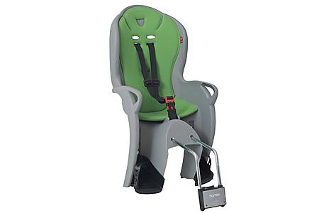 image of Hamax Kiss Rear Child Bike Seat - Grey and Green