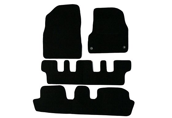 Halfords Citroen C4 Picasso 7 Seat Car Mats (07 - 13) - Black