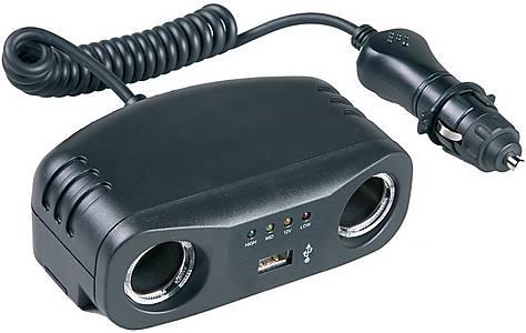 image of Halfords Multi-Socket - 2x12v, USB & Battery Analyser