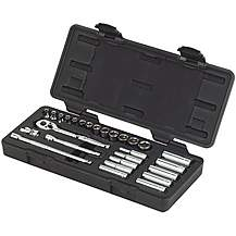 image of Halfords Advanced 27 Piece Metric Socket Set 1/4""