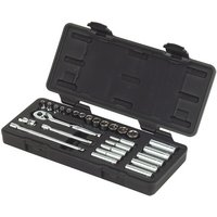 Halfords Advanced 27 Piece Metric Socket Set 1/4""