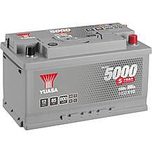 image of Yuasa 12V Silver Car Battery HSB110 - 5 Yr Guarantee