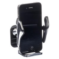 Type S In Car Mobile Phone Holder Silver/Black