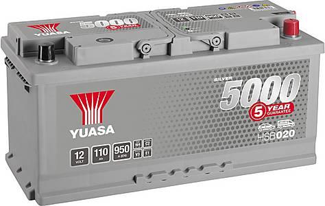 image of Yuasa 12V Silver Car Battery HSB020 - 5 Yr Guarantee