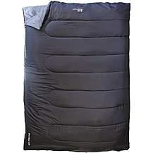 image of Yellowstone Double Rectangular Sleeping Bag Black 1 season