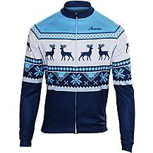 image of Scimitar Christmas Fairisle Blue Cycling Jersey