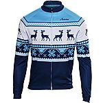 image of Scimitar Xmas Fairisle Blue Cycling Jersey