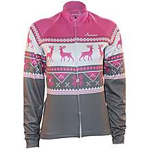 image of Scimitar Christmas Fairisle Pink Cycling Jersey
