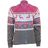 Scimitar Christmas Fairisle Pink Cycling Jersey