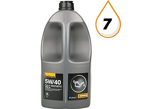Halfords 5W40 Fully Synthetic Turbo Diesel Oil 5L