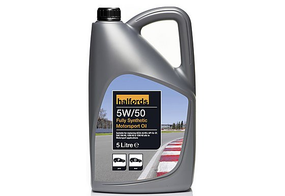 Halfords 5W50 Fully Synthetic Track Day Oil 5L